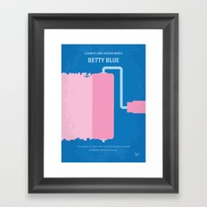 No359 My Betty Blue minimal movie poster Framed Art Print