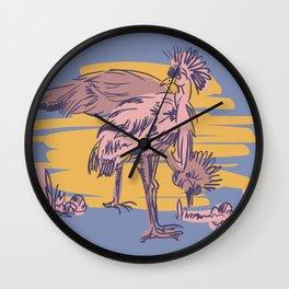 Illustration African birds Wall Clock