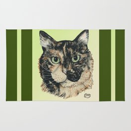 Tortoiseshell Cat-Marybeth_ by Nina Lyman Rug