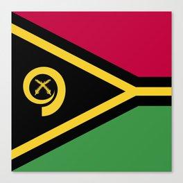 Vanuatu flag emblem Canvas Print