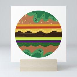 Burger Time Green Mini Art Print