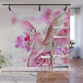 HORSE PINK FANTASY CHERRY BLOSSOMS Wall Mural