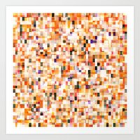 colored bricks Art Print