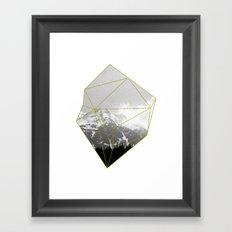 Alps Chunk Framed Art Print