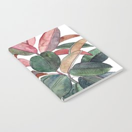Rubber Plant Notebook