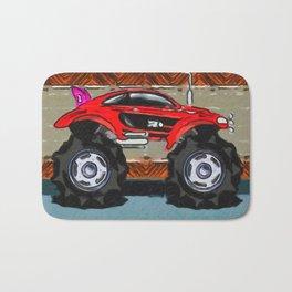Sports Car Monster Truck Bath Mat