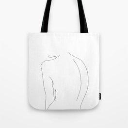 Minimal line drawing of women's body - Alex Tote Bag