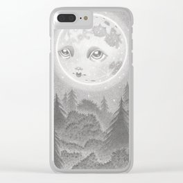 Hunter's Moon Clear iPhone Case
