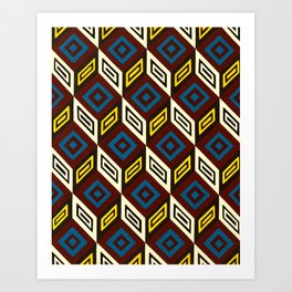 Necker Cubes Art Print