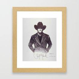 Clint Black Framed Art Print