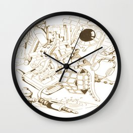 Vintage Collage of Thoughts Wall Clock