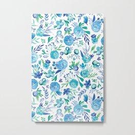 Blue Floral #1 Metal Print