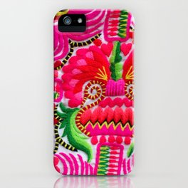 Hmong Hill Tribe Embroidery 2 iPhone Case