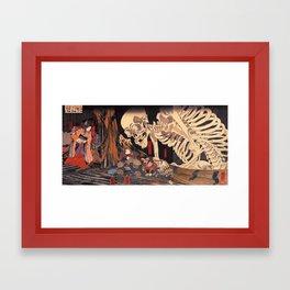 Takiyasha the Witch and the Skeleton Spectre, by Utagawa Kuniyoshi Framed Art Print