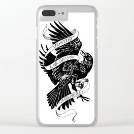Flattery Will Get You Nowhere Clear iPhone Case