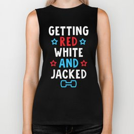 Getting Red, White And Jacked Biker Tank