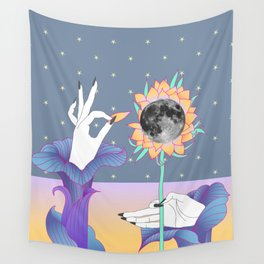 moonflower Wall Tapestry