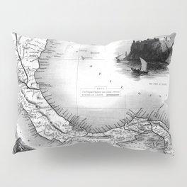 Vintage Map of Panama (1851) BW Pillow Sham