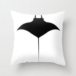 manta fish Throw Pillow