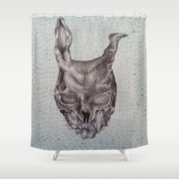 frank Shower Curtains featuring Frank by Abbi Burrows