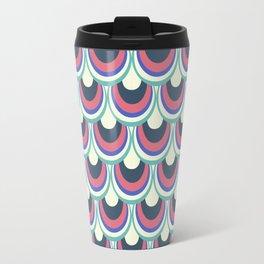 Japanese pattern pink and blue Travel Mug