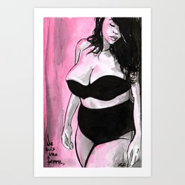 Je Suis La Femme Art Print