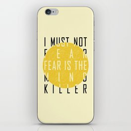Dune - The Litany Against Fear (BLK) iPhone Skin