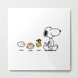 Snoopy and Friend Metal Print