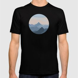 Pastel Sunset over Blue Mountains T-shirt