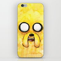 jake iPhone & iPod Skins featuring Jake Face by Olechka