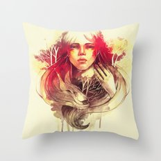 Purity In Red Throw Pillow