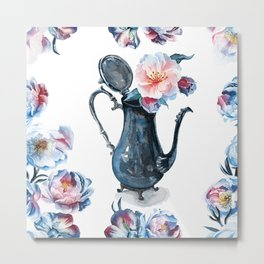 pitcher with flowers Metal Print