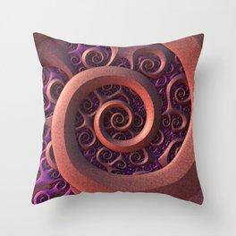 Spiral Mania Throw Pillow