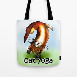 Cat yoga 1 Tote Bag