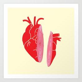 Heart Slice Art Print