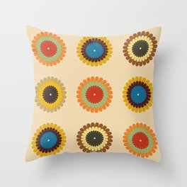 Seventies Sunrise Today Throw Pillow