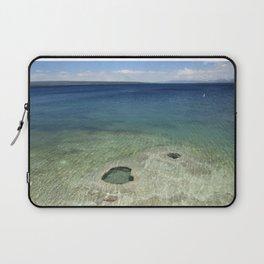Blue Water Lake at Yellowstone National Park Laptop Sleeve