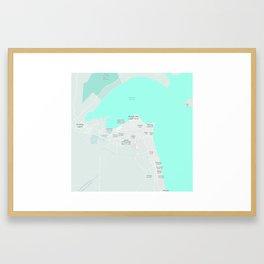 Minimalist Modern Map of kuwait City, Kuwait 10 Framed Art Print