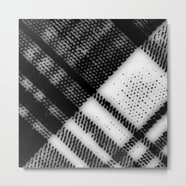 Grey Plaid Metal Print