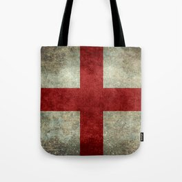 Flag of England (St. George's Cross) Vintage retro style Tote Bag