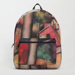 Autumn Foliage, Upper Manhattan, New York landscape painting by Thomas Hart Benton  Backpack