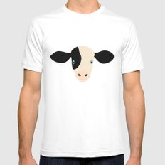Cow-mor Mens Fitted Tee White MEDIUM