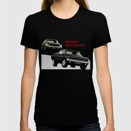 Ford Mustang and Dodge Charger from Bullitt T-shirt