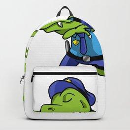 Police Tyrannosaurus Dino gift Backpack