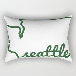 Seattle Washington PNW Rectangular Pillow