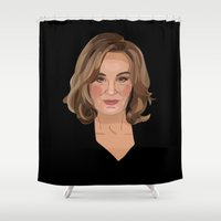 coven Shower Curtains featuring On Wednesdays, We Wear Black by Grace Teaney Art