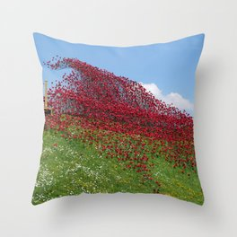 Fort Nelson Poppy Wave Throw Pillow