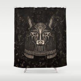 Bastet Egyptian Goddess - Sepia Shower Curtain