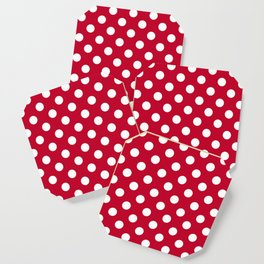 Red and Polka White Dots Coaster