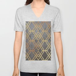 Glam Geometric Unisex V-Neck